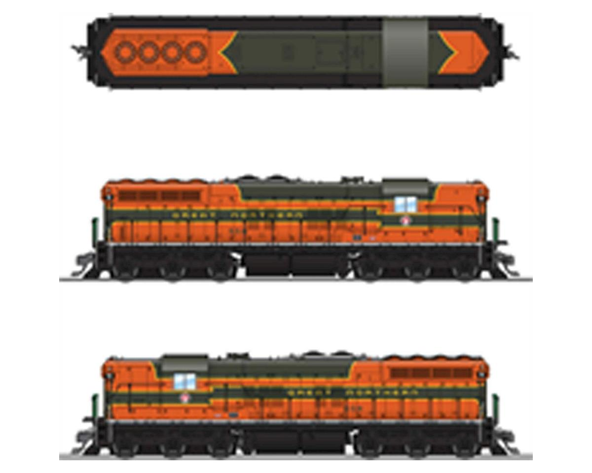 Broadway HO SD7 w/DCC & Paragon 3, GN/Empire Builder #566
