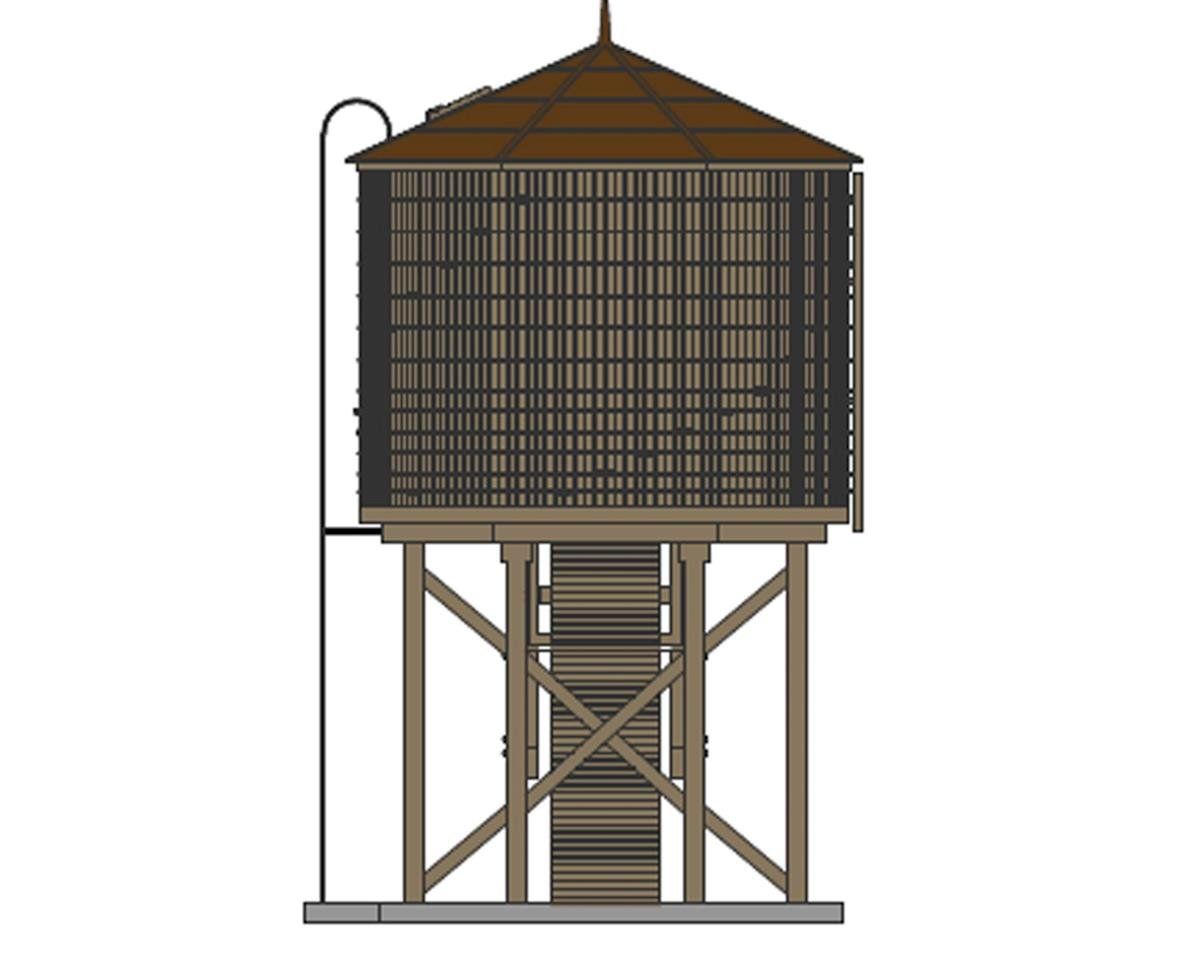 HO Operating Water Tower w/Sound, Weathered Brown