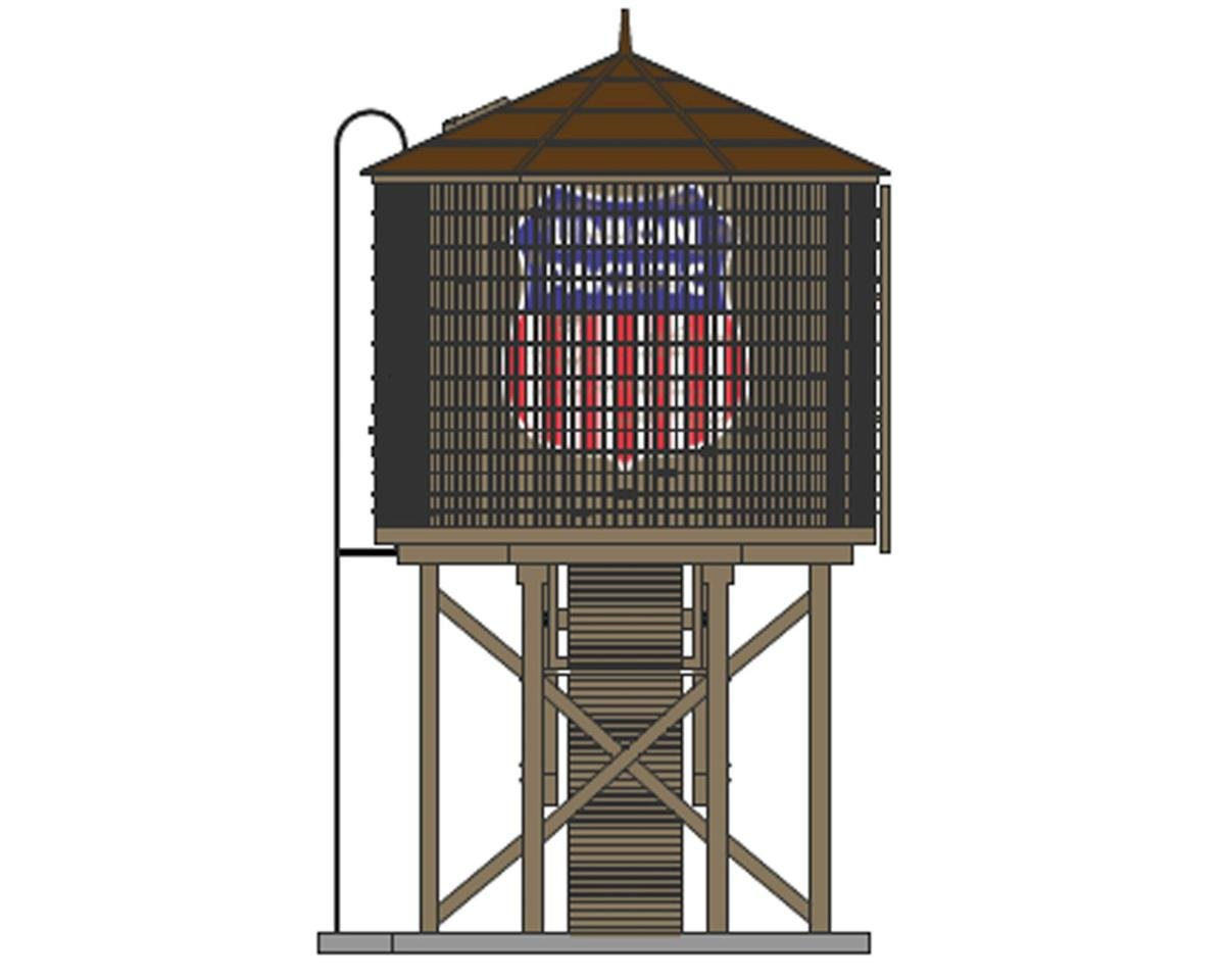 HO Operating Water Tower/Sound, UP/Weathered Brown