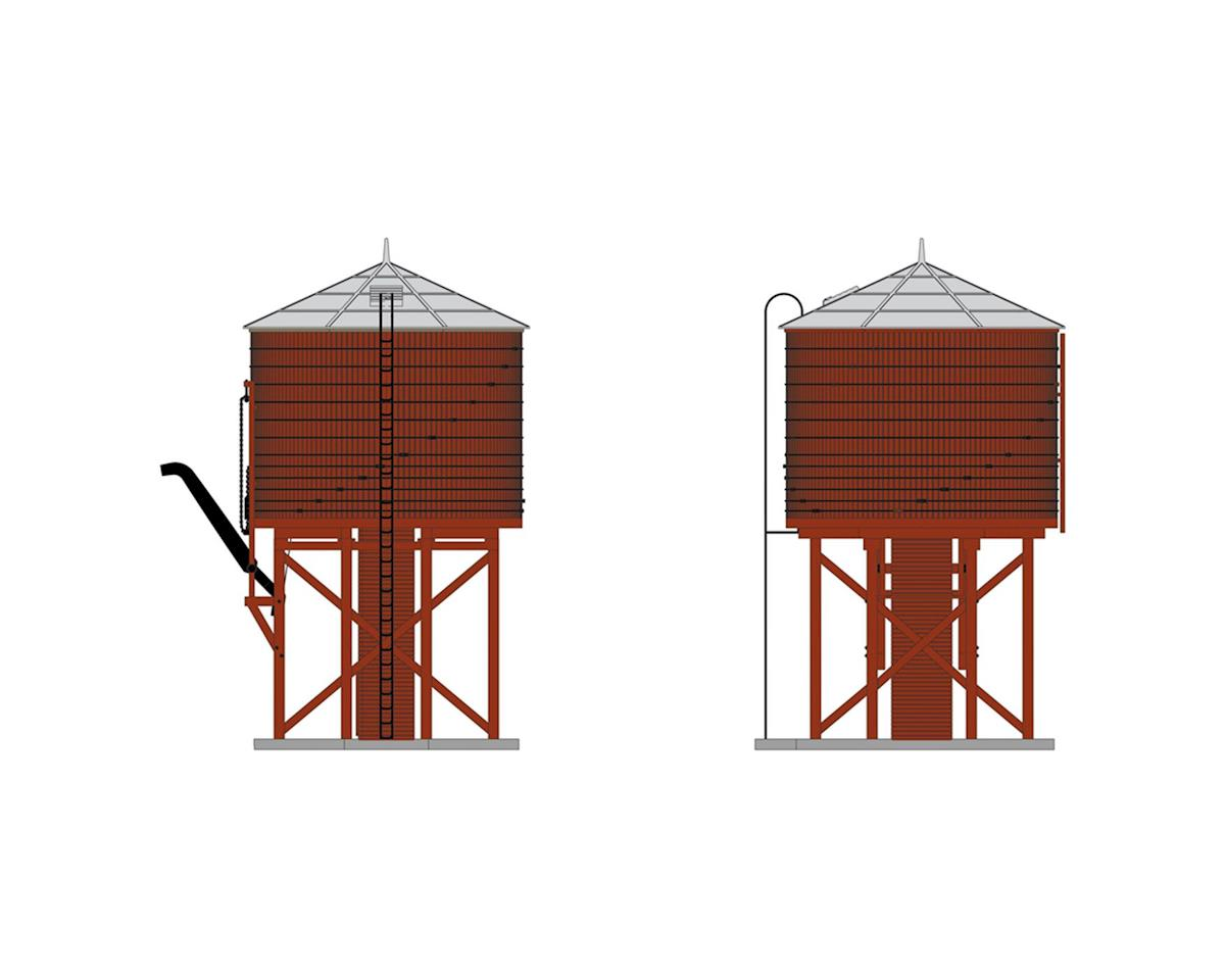 Broadway N Operating Water Tower w/Sound, Barn Red