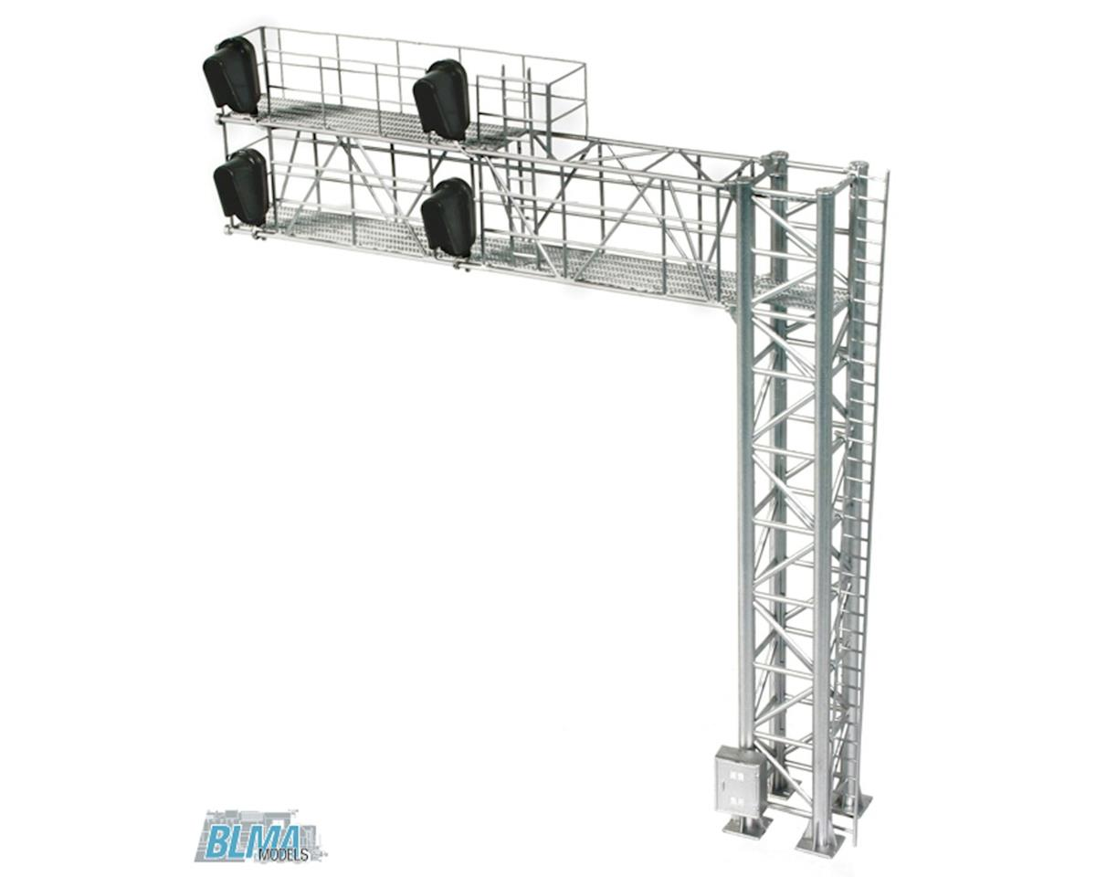 HO B/U Modern Cantilever Signal Bridge, Right Hand by BLMA Models