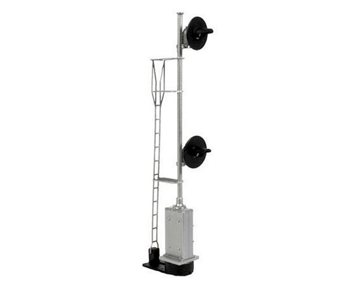 BLMA Models HO Searchlight 2-Head Signal/Ladder/Base, Lighted