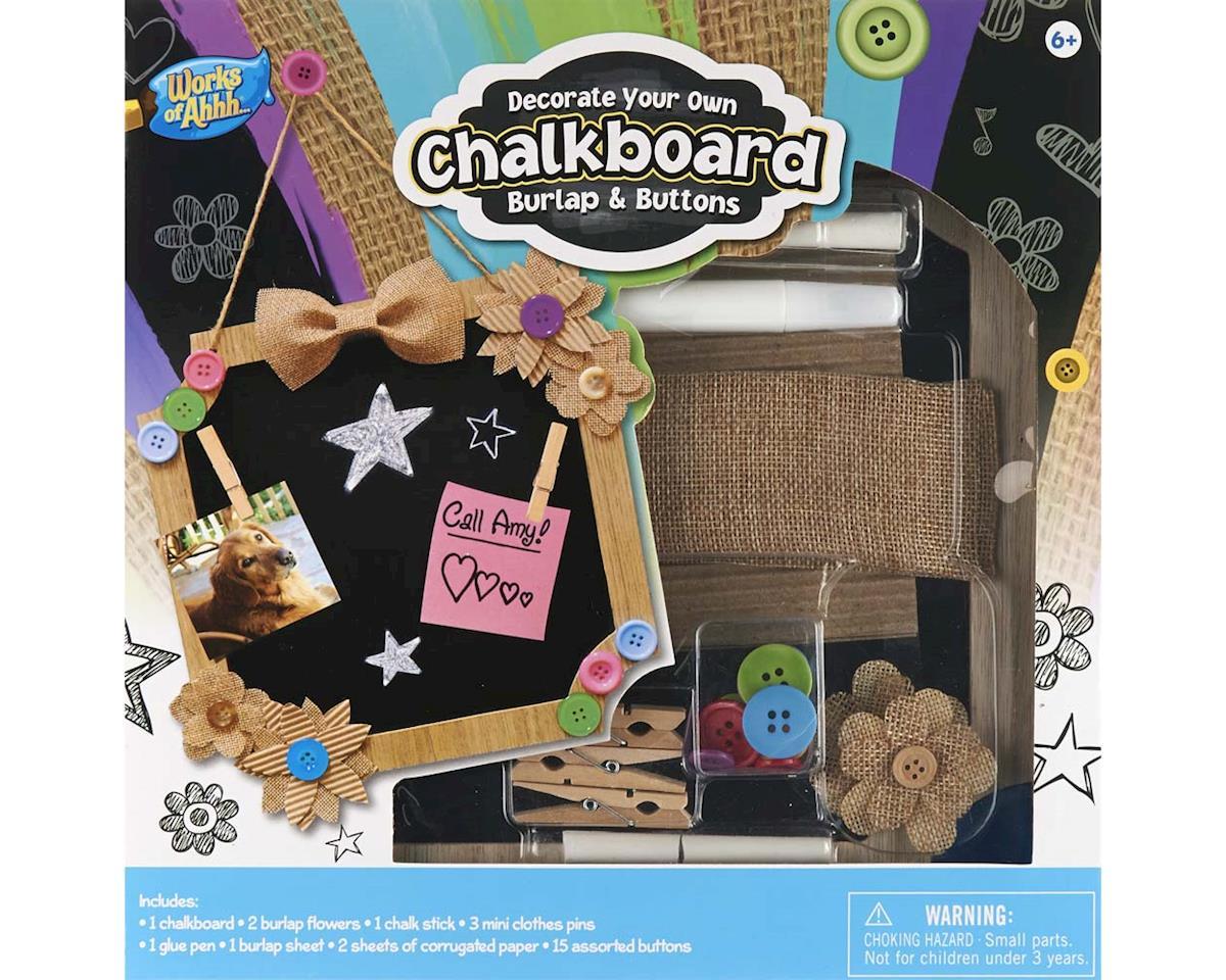21567 Chalkboard Kit Burlap/Buttons