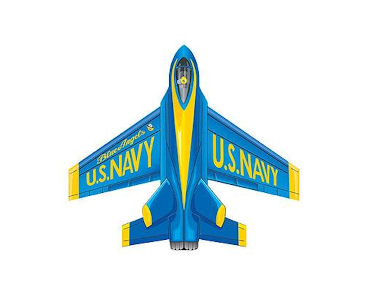 """WindNSun Microjet Mini Mylar 4.7"""" Assorted Mini Kites (Blue Angel, F-18 Hornet, F-35 Lightning, F-1"""