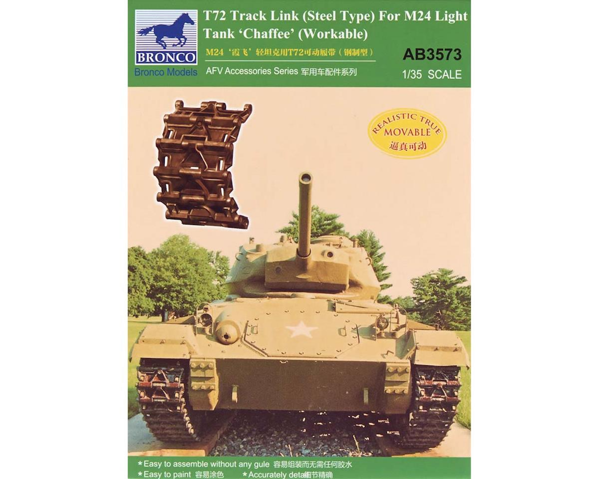 03573 1/35 T72 Track Link M24 Light Tank Chaffee by Bronco Models