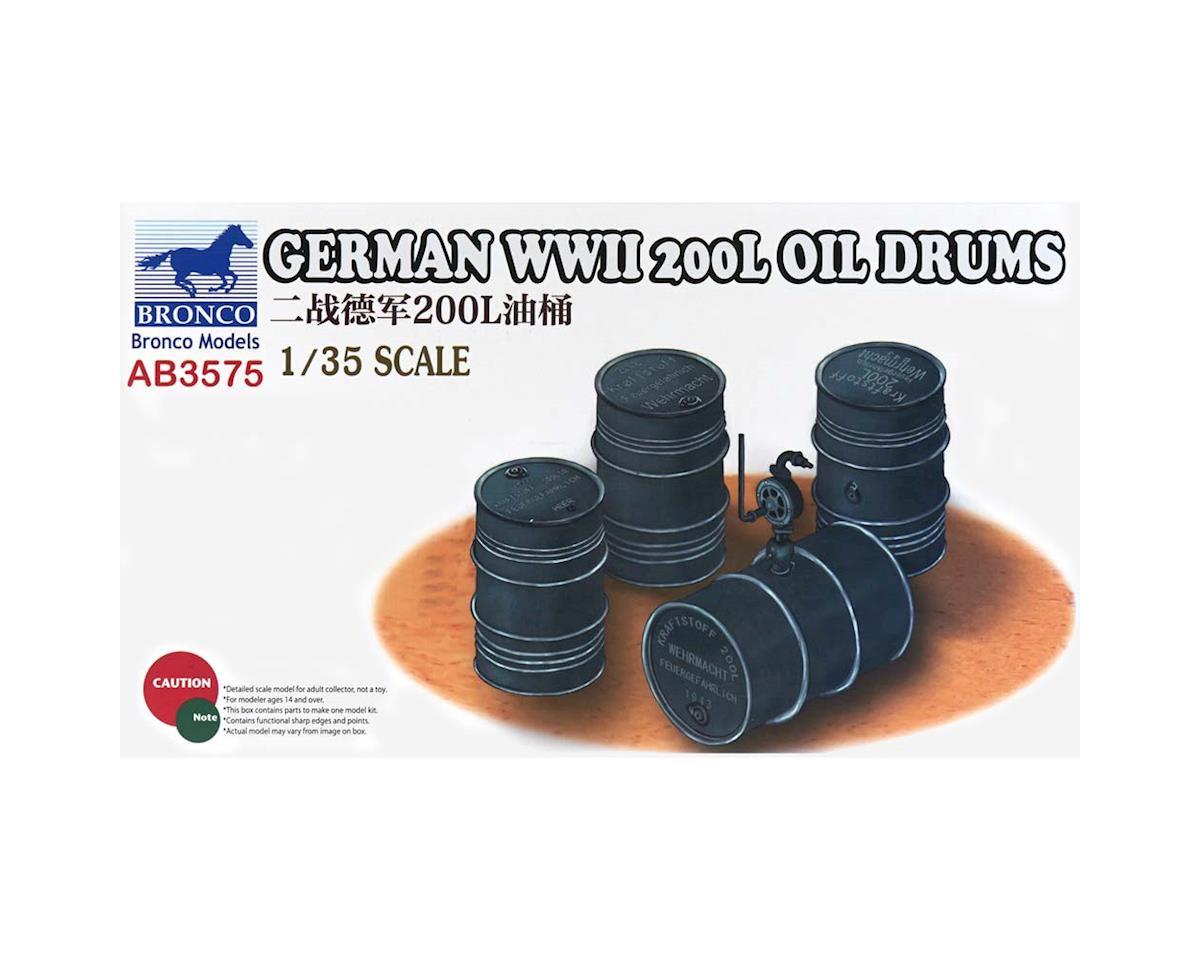 03575 1/35 German WWII 200L Oil Drums by Bronco Models