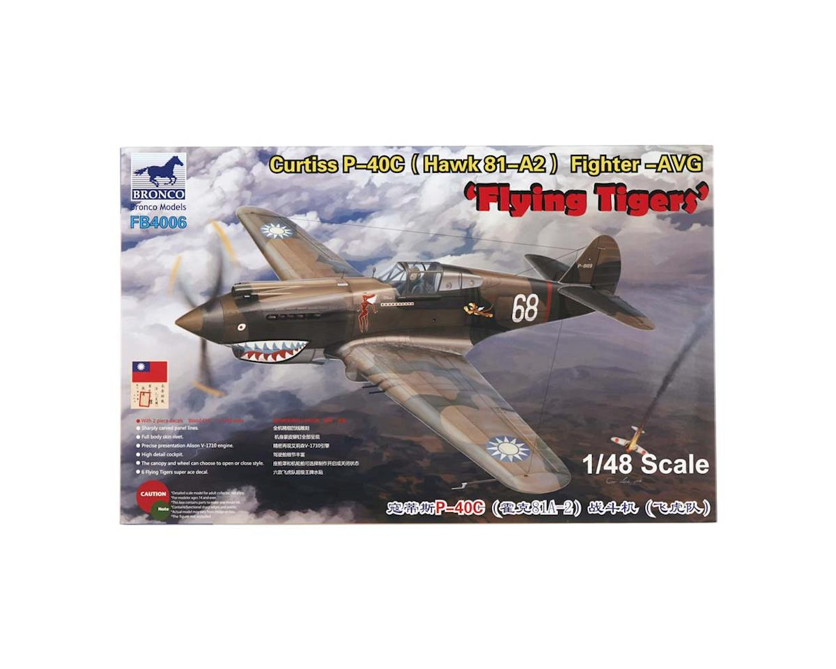 Bronco Models 04006 1/48 Curtiss P-40C Fighter AVG Flying Tigers