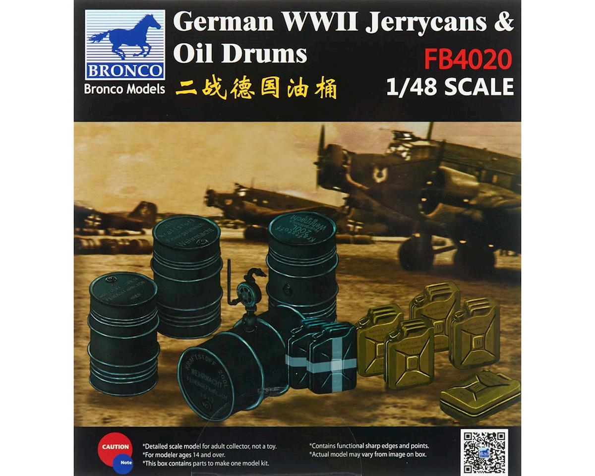 Bronco Models 04020 1/48 WWII German Jerry Cans/Fuel Drums