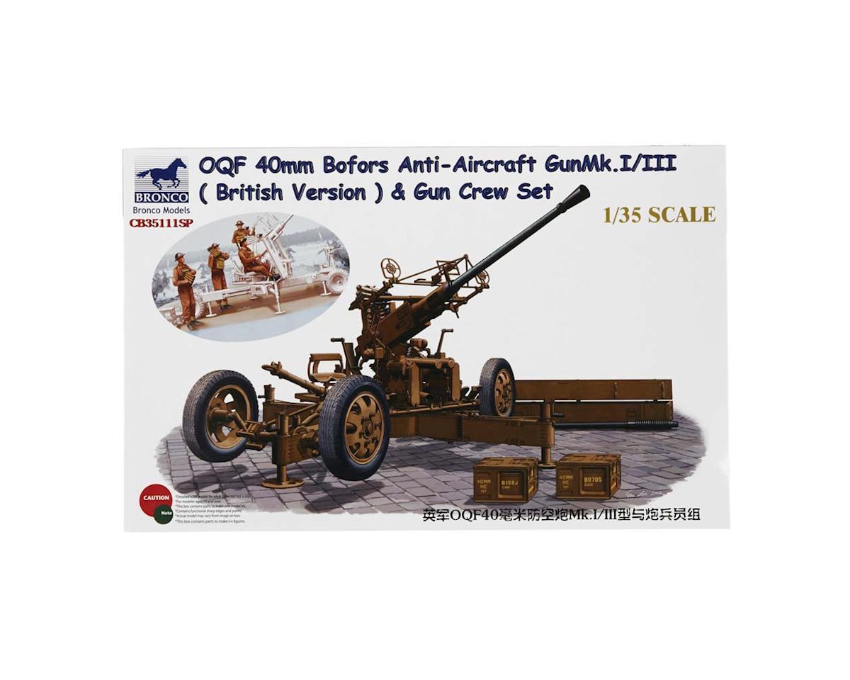 Bronco Models 35111SP 1/35 OQF 40mm Bofors Anti-Aircraft Gun Mk.I