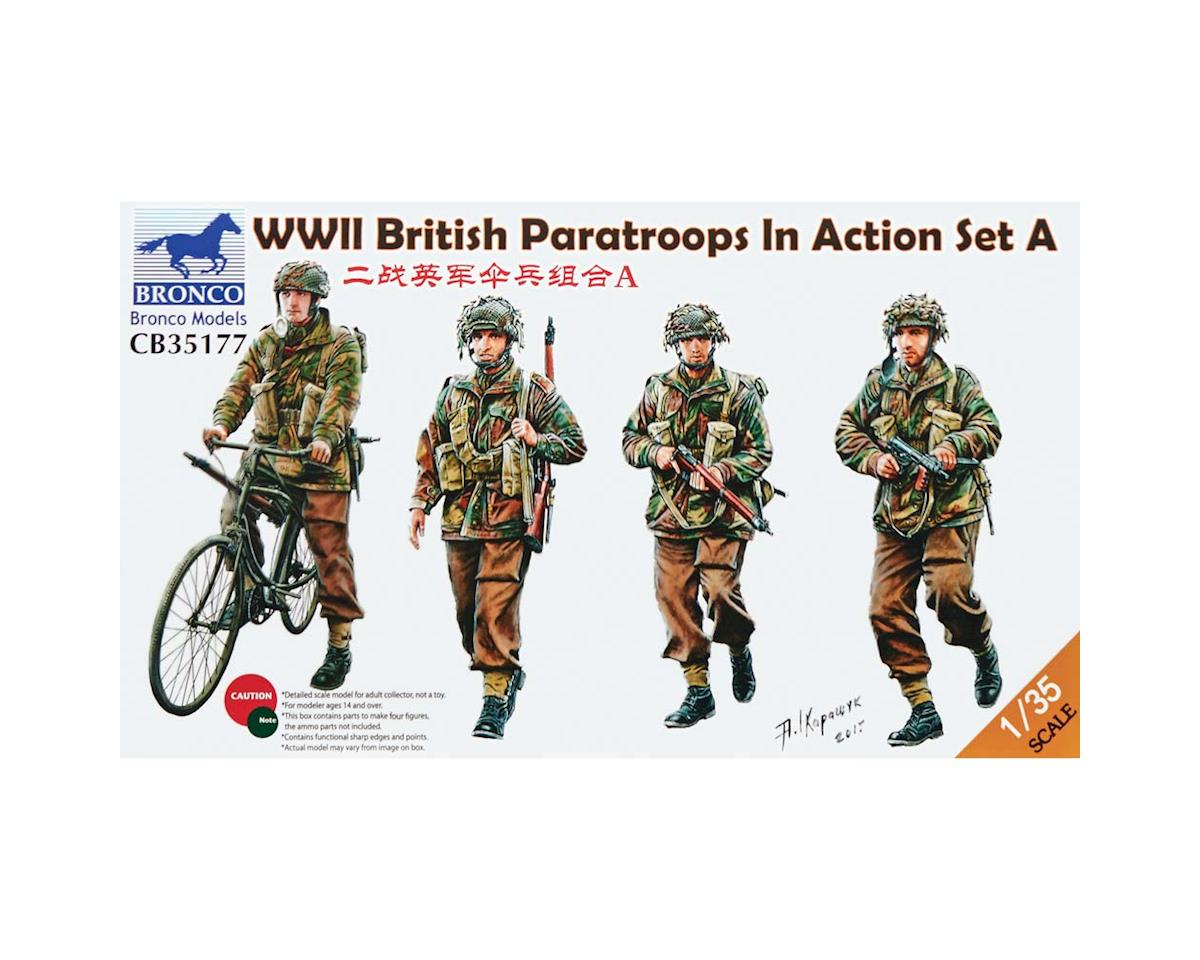 35177 1/35 WWII British Paratroops In Action Set A by Bronco Models