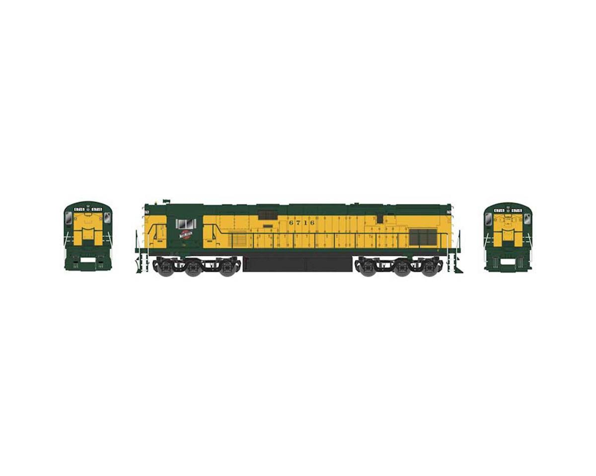 HO C628 w DCC & Sound C&NW Old Yellow Green #6723