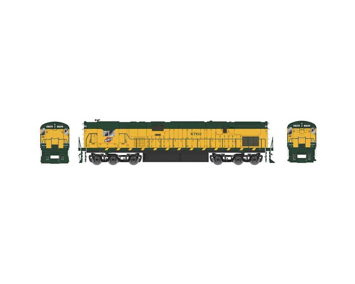 HO C628 C&NW Old Yellow Yellow #6702