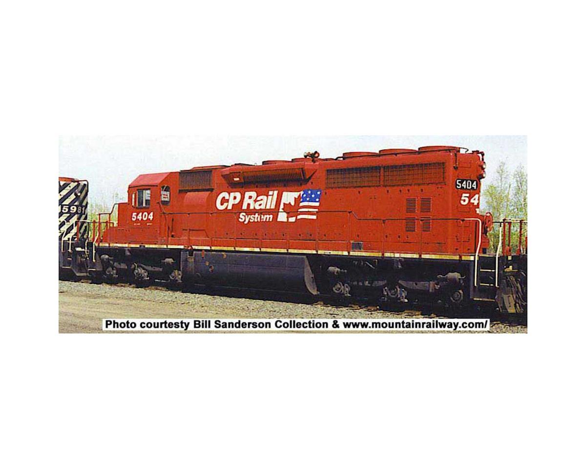 HO SD40 w DCC & Sound CPR ex QNSL Dual Flag #5413
