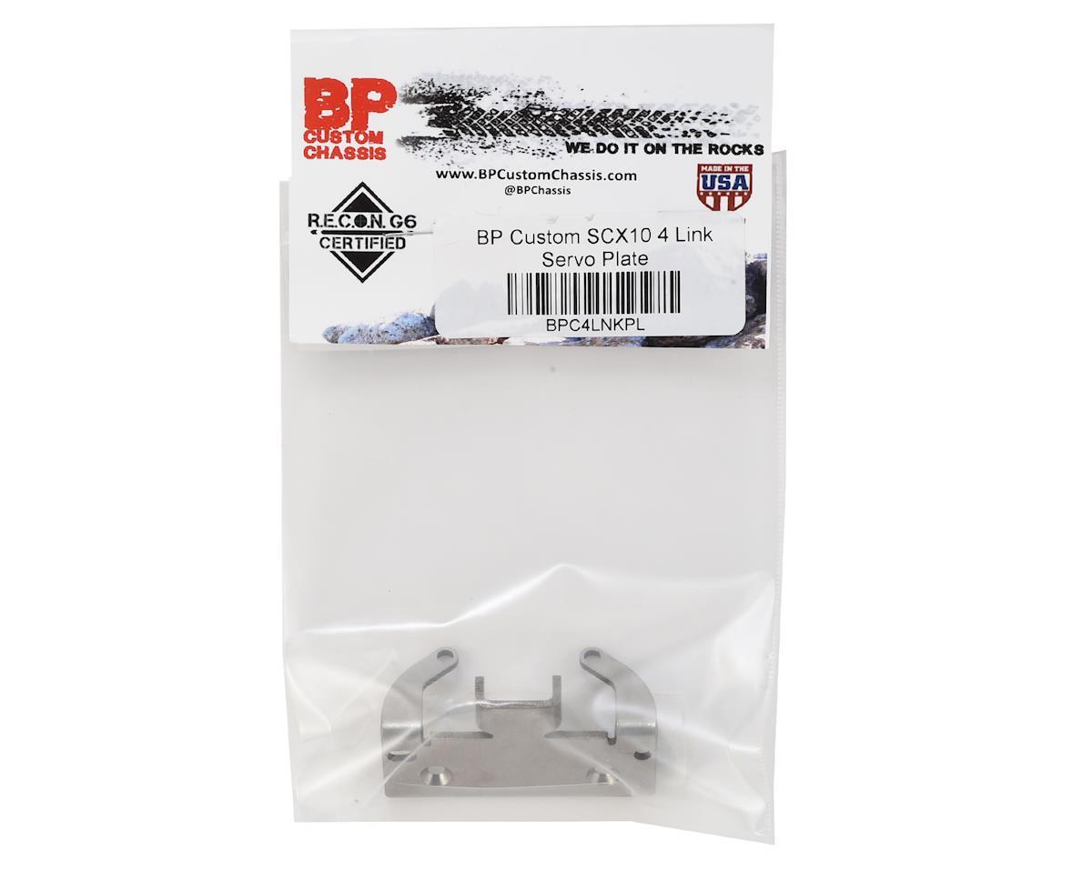 BP Custom SCX10 4 Link Servo Plate
