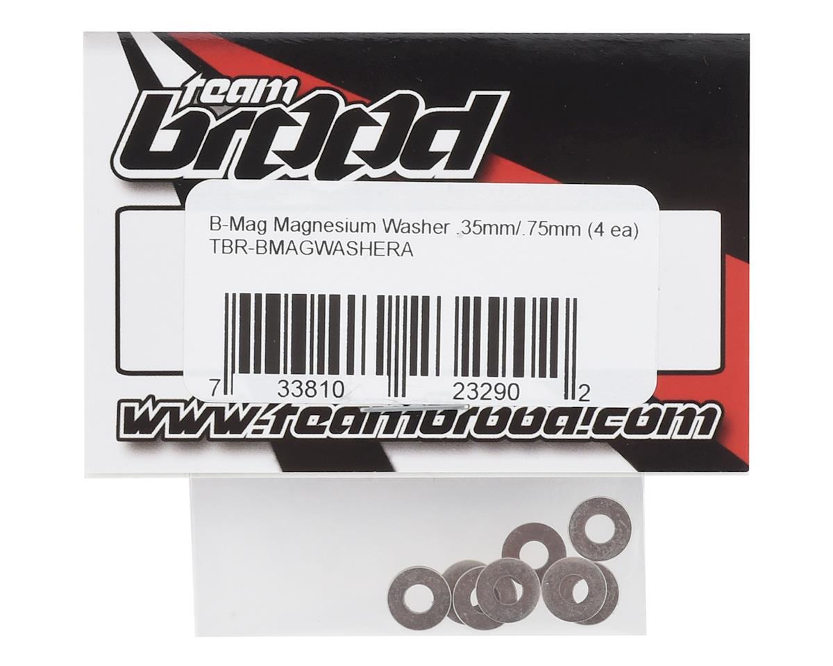 "Team Brood B-Mag .35mm/.75mm Magnesium ""A"" Washer Set (8)"