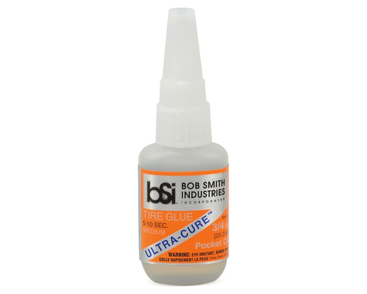 Bob Smith Industries ULTRA-CURE Medium CA Tire Glue w/Pin Cap (3/4oz)