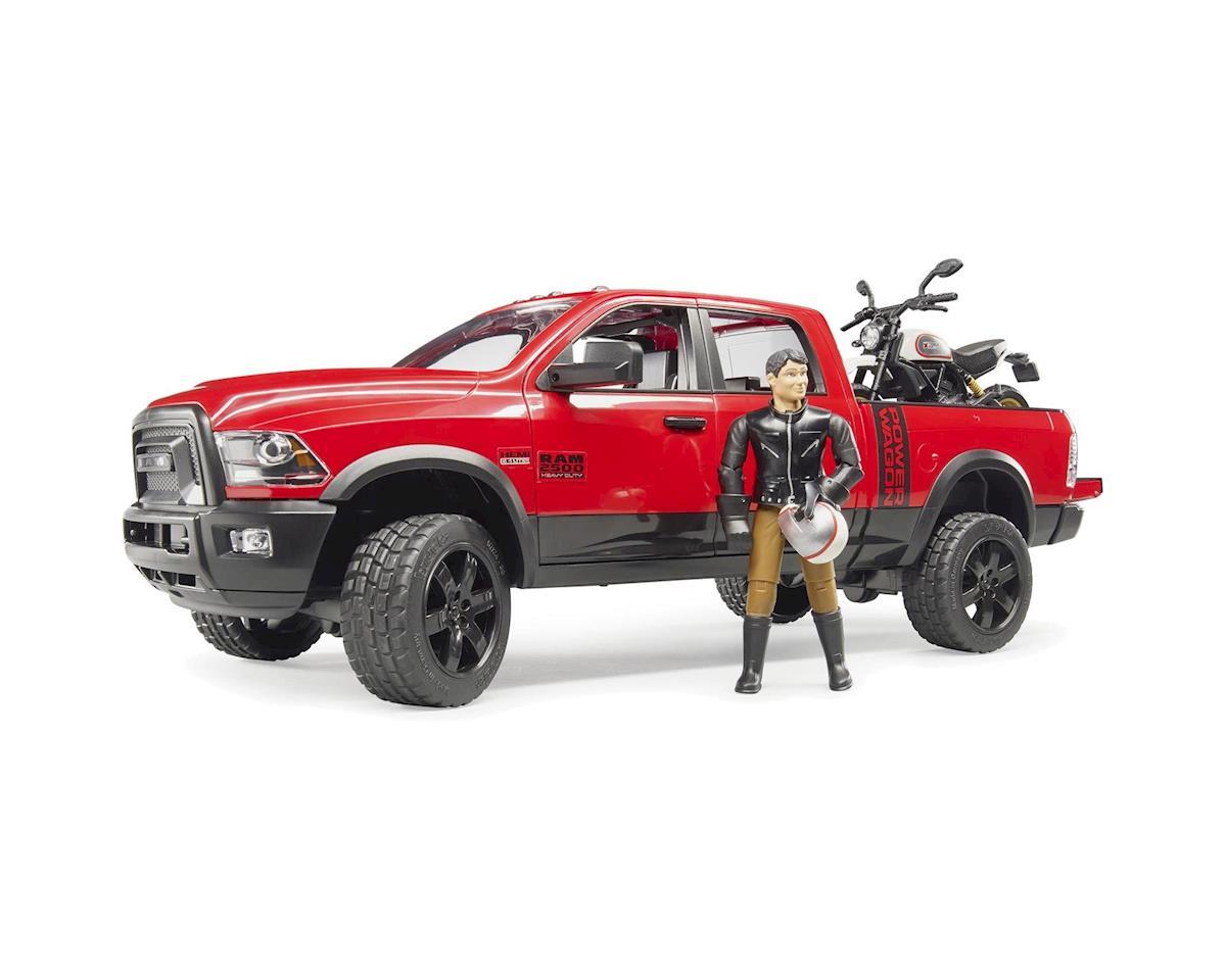 Bruder Toys Ram 2500 Power Wagon W Scrampler Ducati