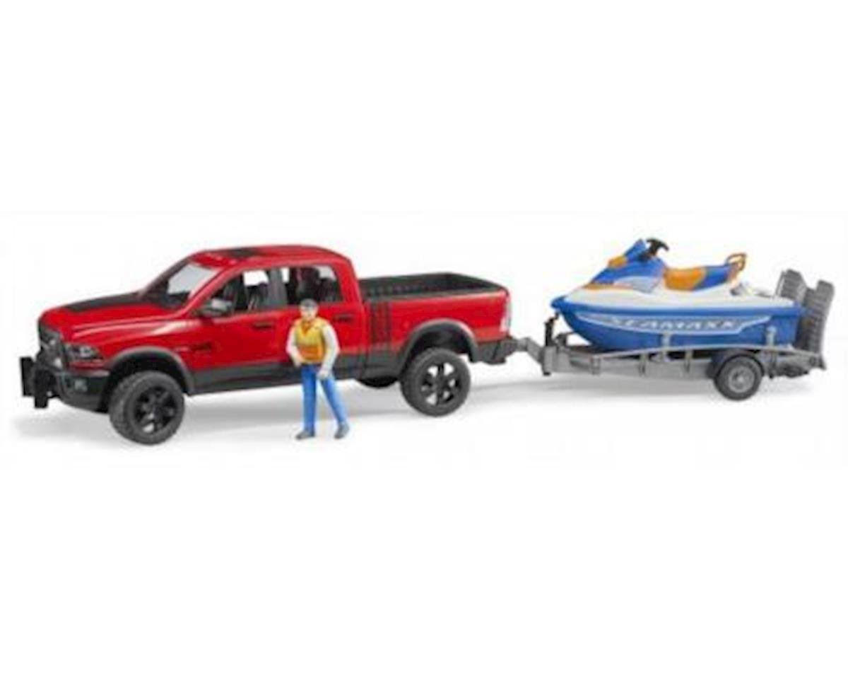 02503 Ram 2500 Power Wagon with Trailer and Personal Water Craft with Driver Vehicles-Toys