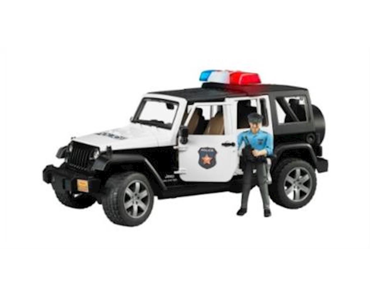 Bruder Toys Jeep Rubicon Police Car W/Figures 4Pc