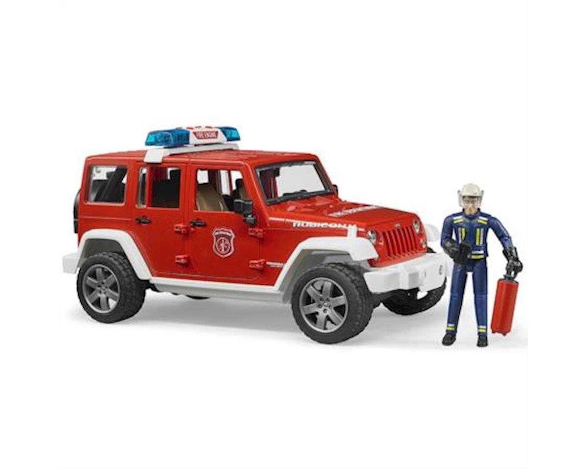 Bruder Toys Jeep Rubicon Fire Rescue W/Fireman