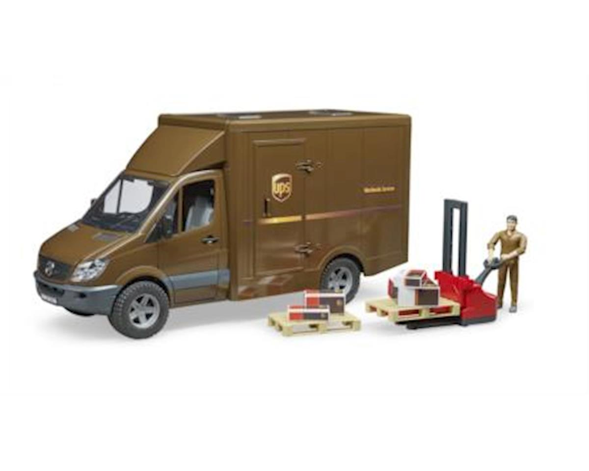 02538 MB Sprinter UPS with Driver and Accessories Vehicles-Toys