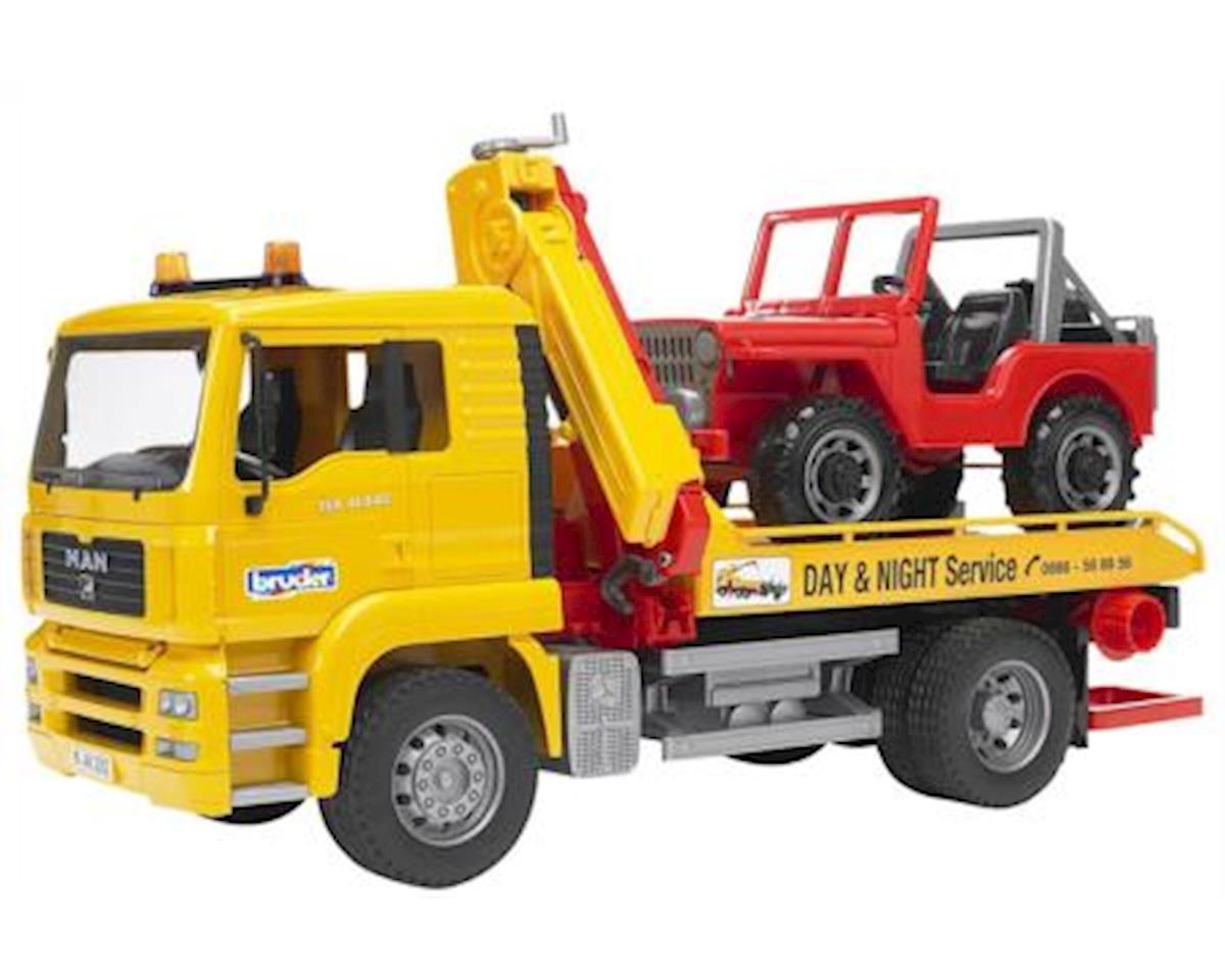 MAN TGA Tow Truck w/4x4 Vehicle