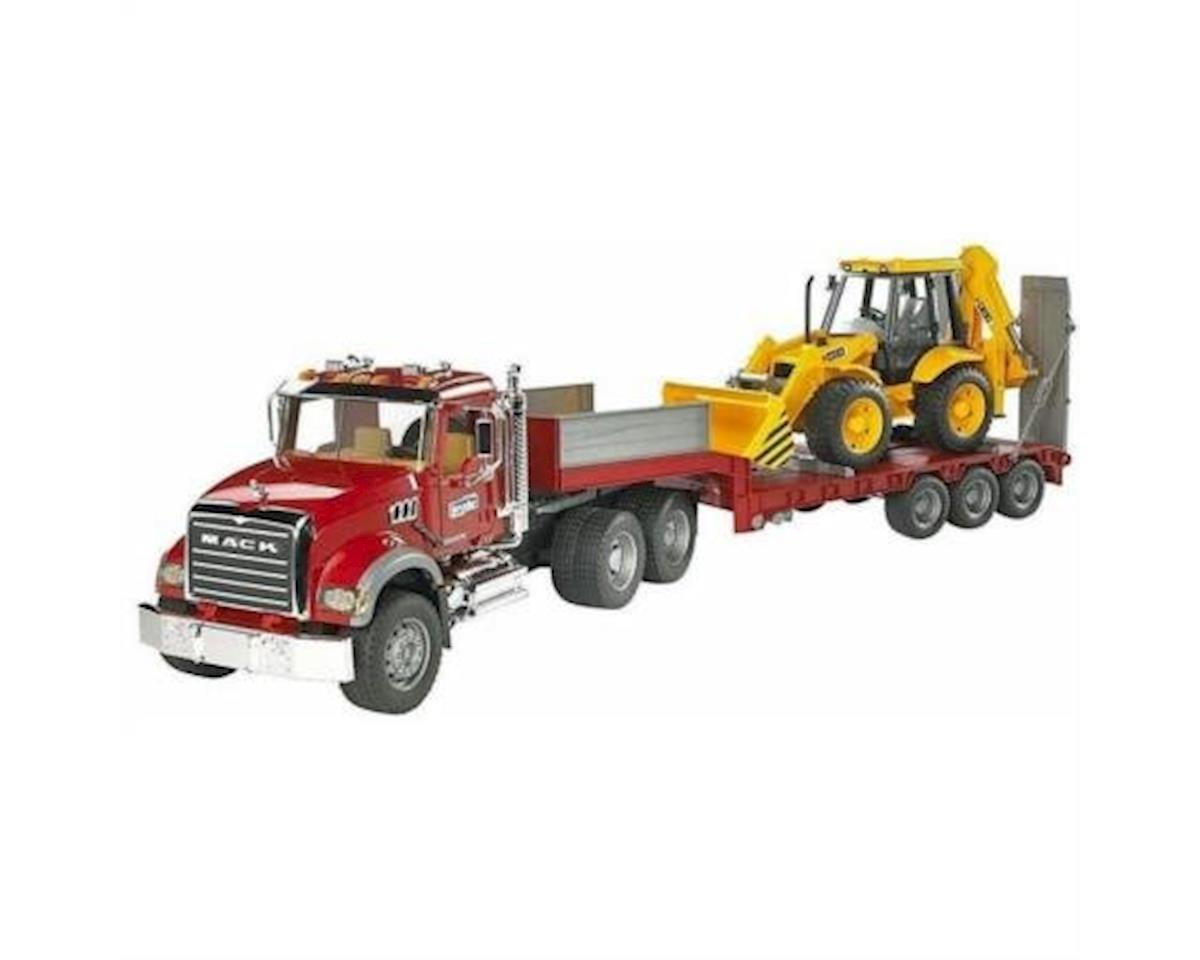 1/16 MACK Granite Low Truck/Trailer w/JCB Backhoe