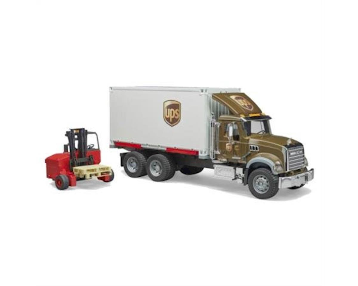 02828 Mack Granite UPS Logistics Truck with Forklift Vehicles-Toy