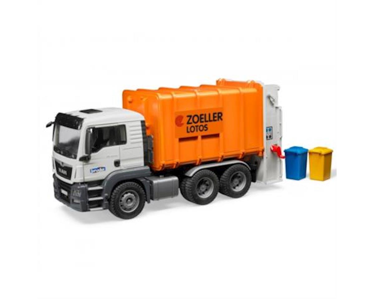 Bruder Toys Man Rear Loading Garbage Truck