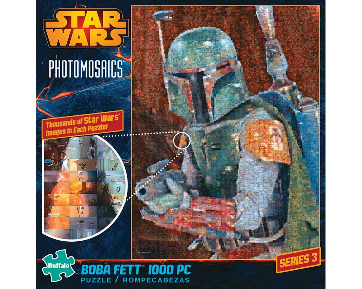 Buffalo Games Buffalo Puzzles  Photomosaic Star Wars Boba Fett 1000Pcs