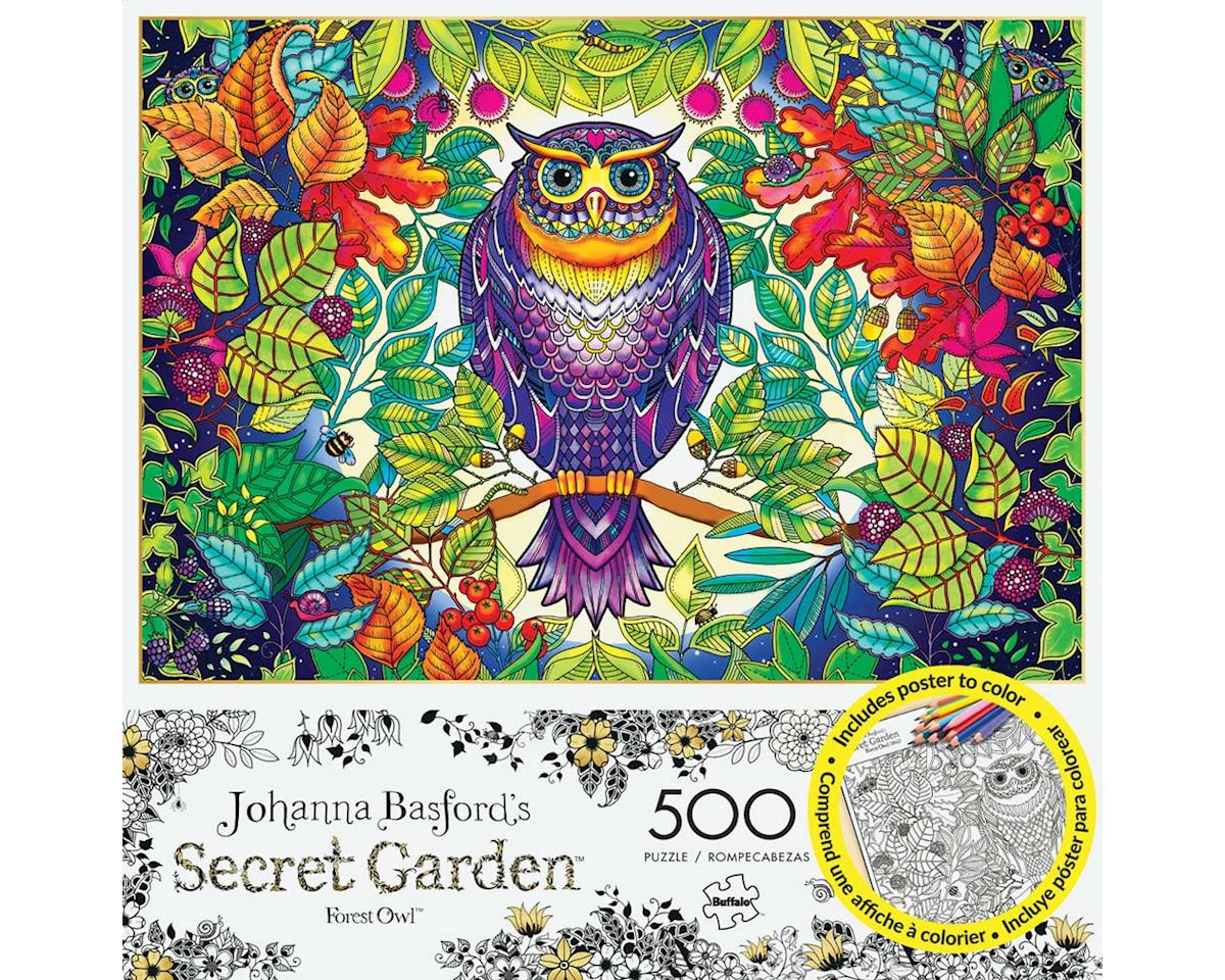 Buffalo Games 3842 Forest Owl 500pcs Build/Color