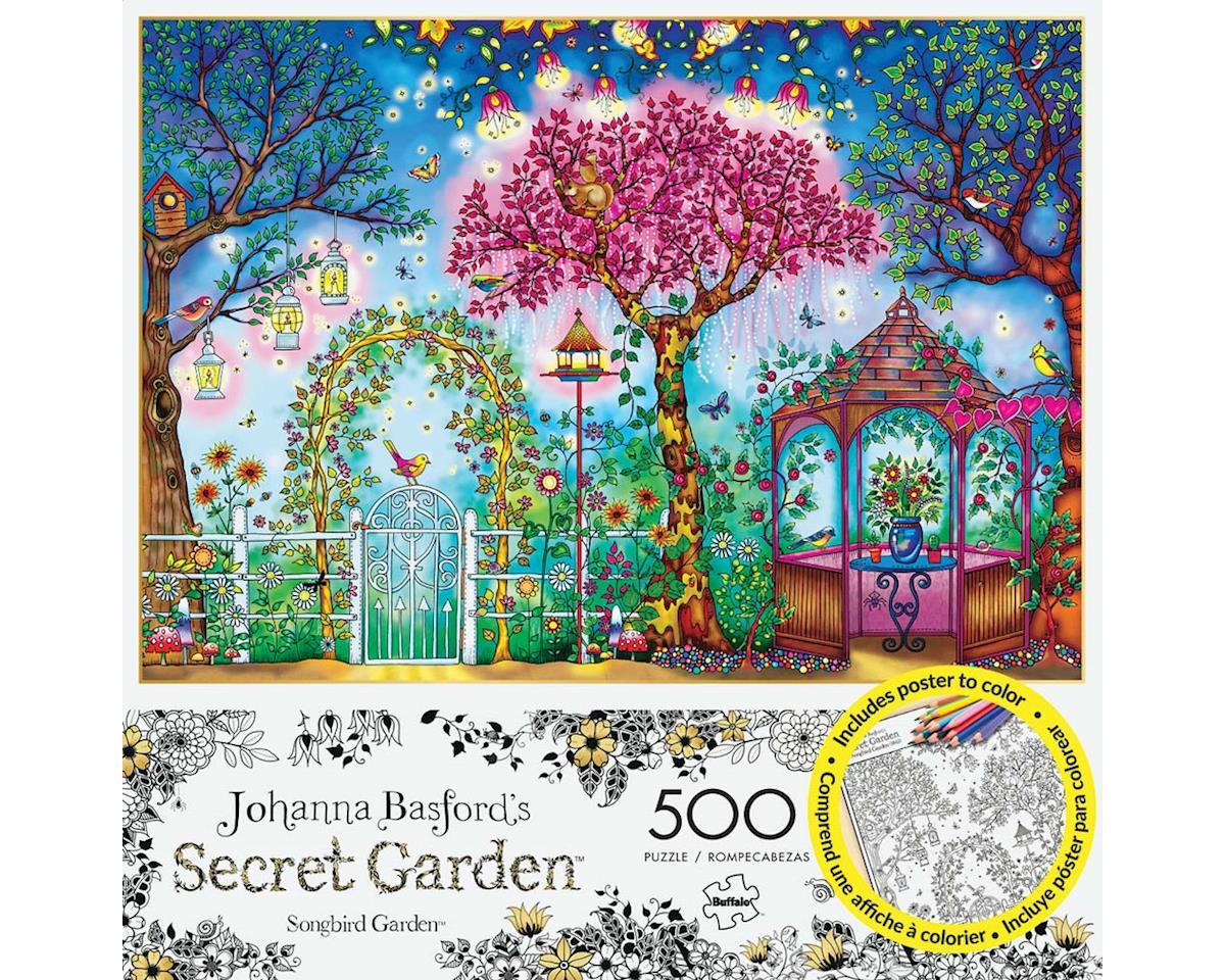 Buffalo Games 3843 Songbird Garden 500pcs Build/Color