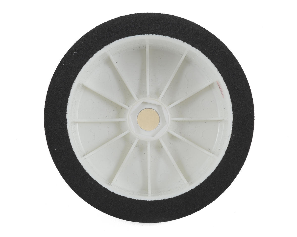 17mm Hex 1/8 Mounted GT Foam Tire (White) (2) (30 Shore) by John's BSR