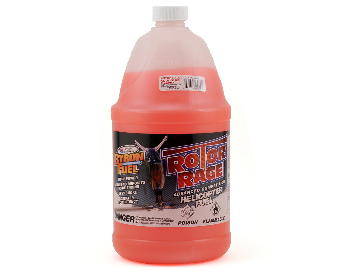 "Byron Originals 30% Rotor Rage ""Masters Blend"" Helicopter Fuel (Four Gallons)"
