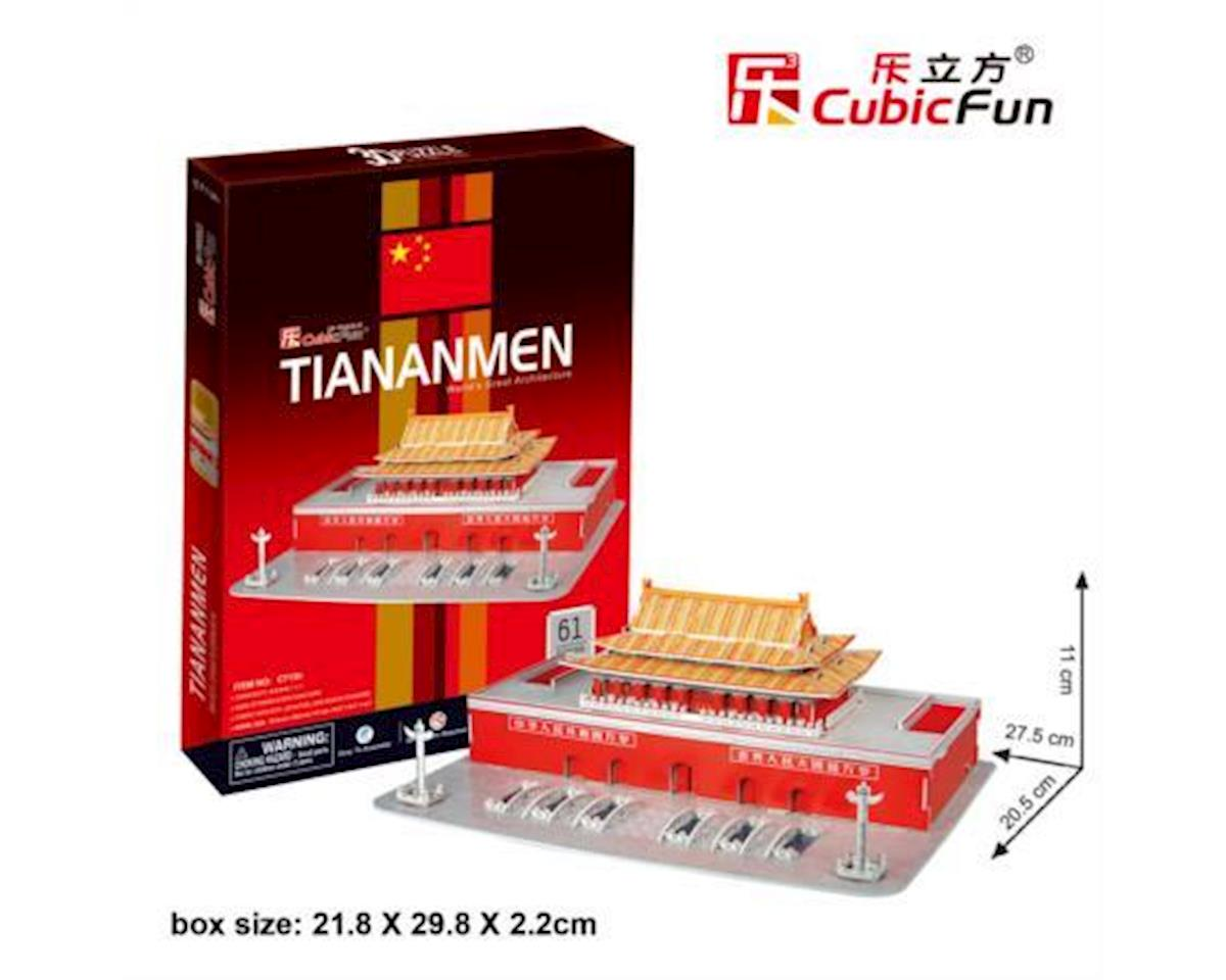 Cubic Fun C713H Tien An Men 3D Puzzle-Great Architecture (Easy to assemble)