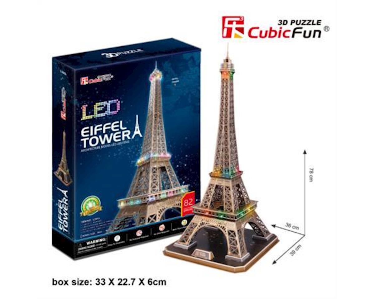 Cubic Fun Eiffel Tower W/ Led 3D Puzzle