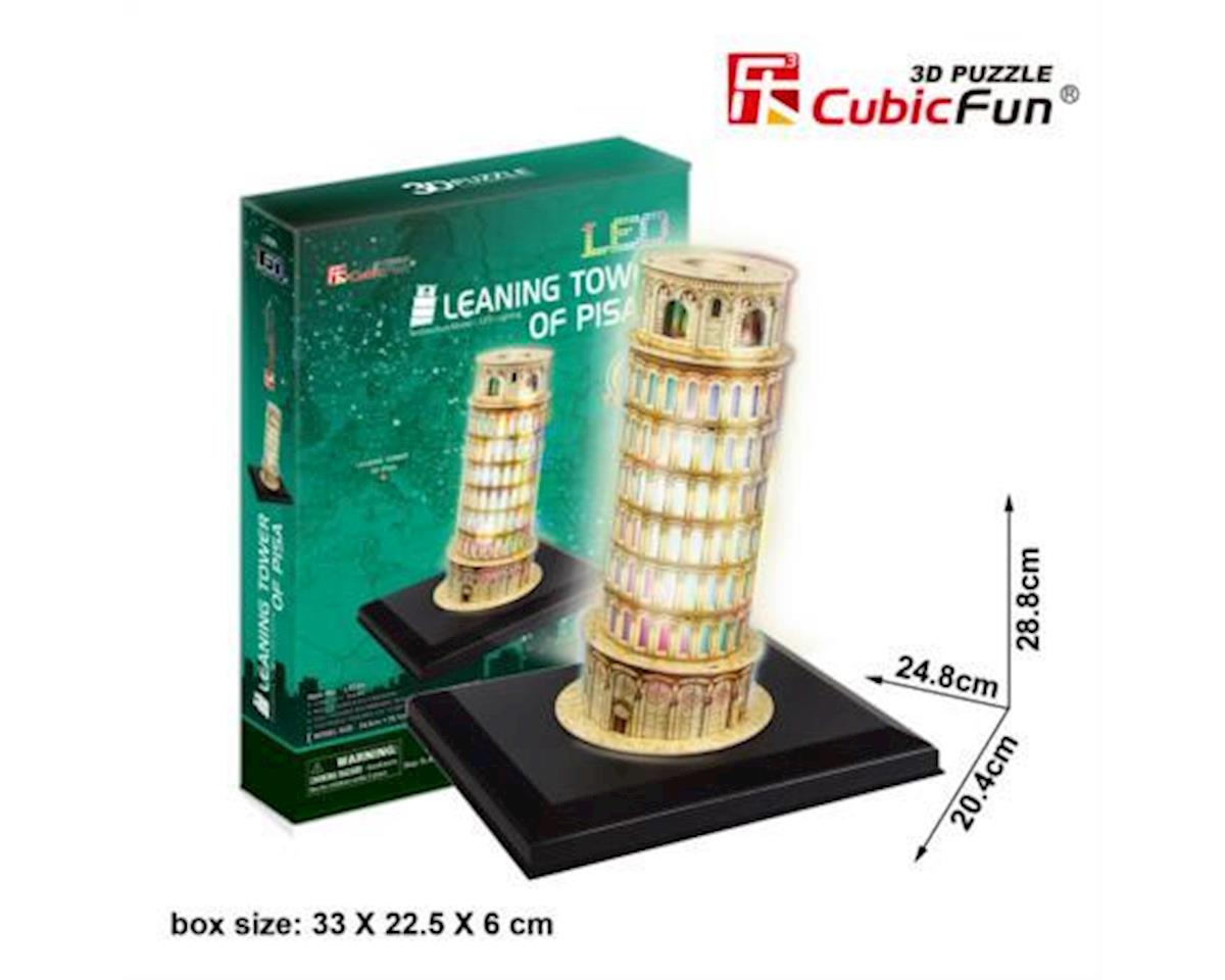 Leaning Tower Of Pisa W/ Led 3D Puz by Cubic Fun
