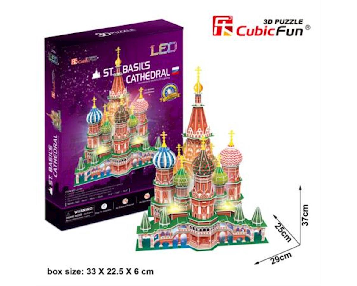 CubicFun L519h St. Basil's Cathedral (with LEDs) Puzzle, 224 Pieces