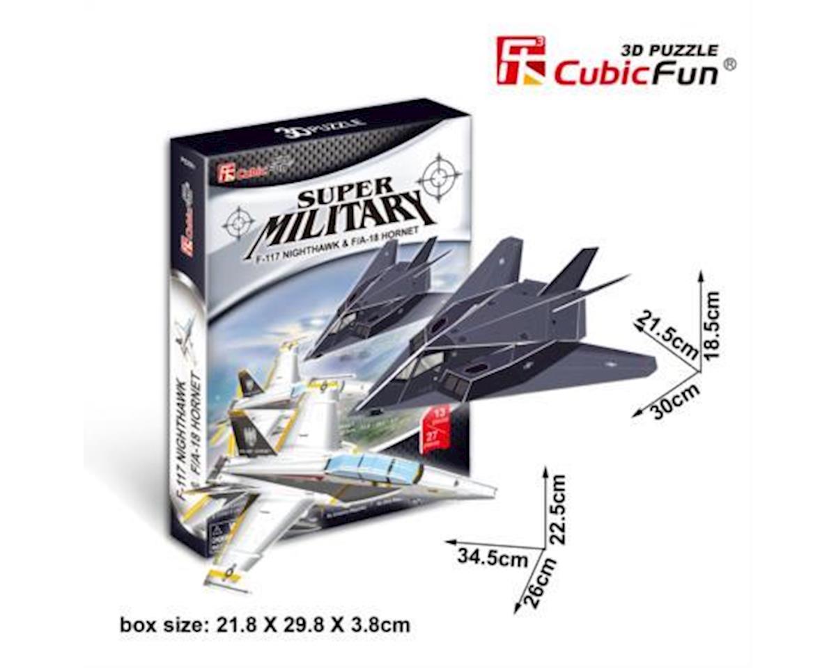 Cubic Fun F117 Nighhawk & Fa18 Hornet 3D Puz