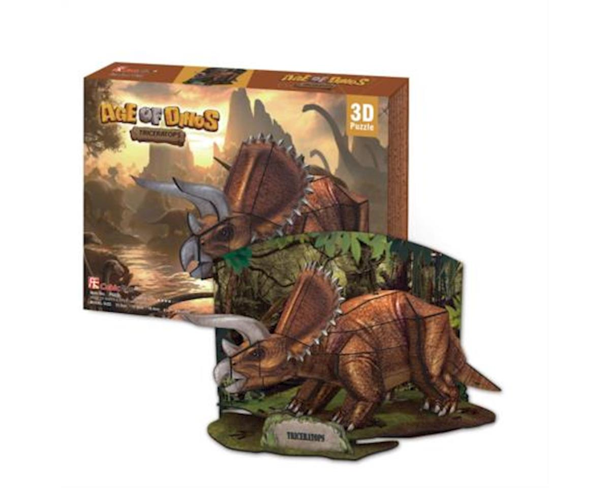 Triceratops 3D Puzzle by Cubic Fun