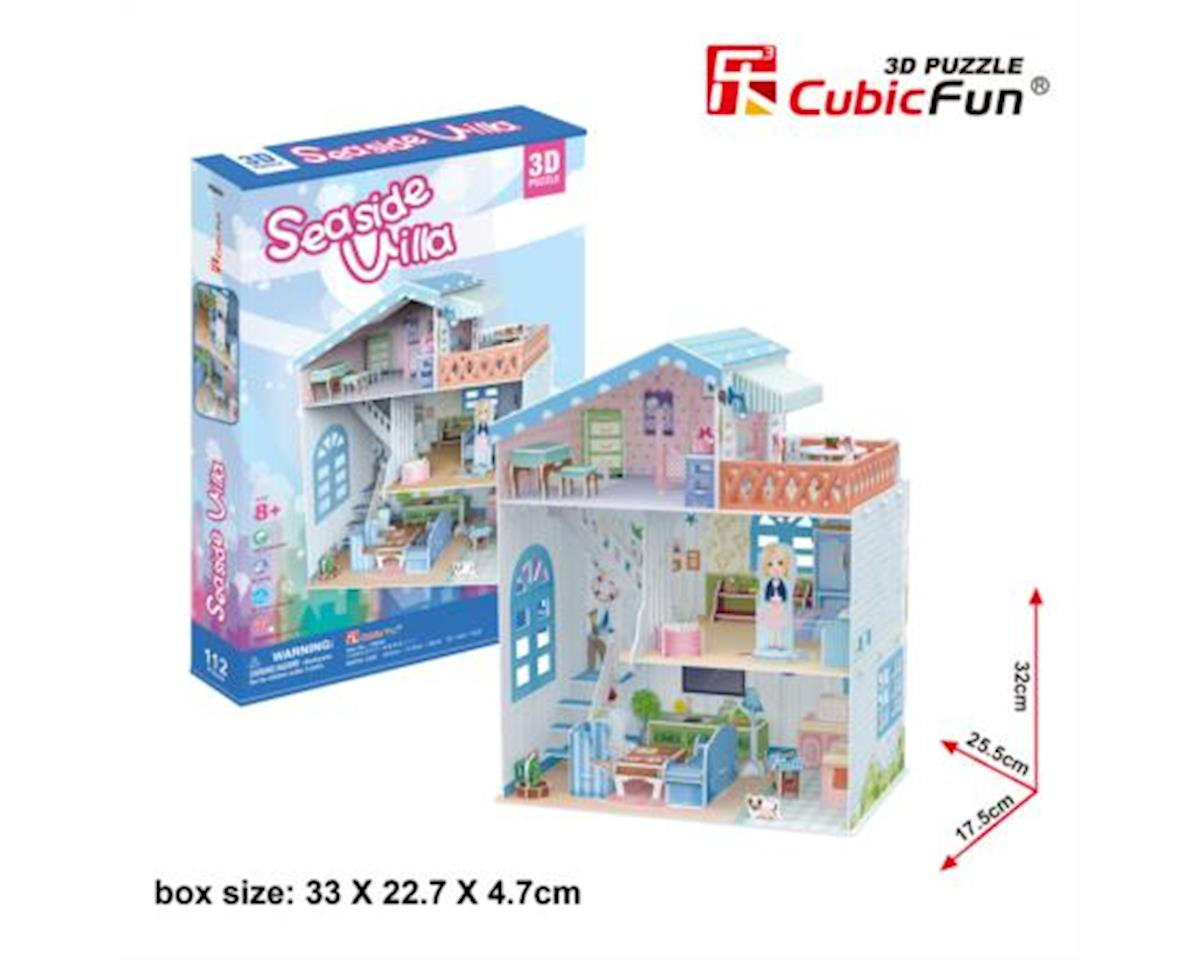 CubicFun P683h Dollhouse - Seaside Villa Puzzle, 112 Pieces