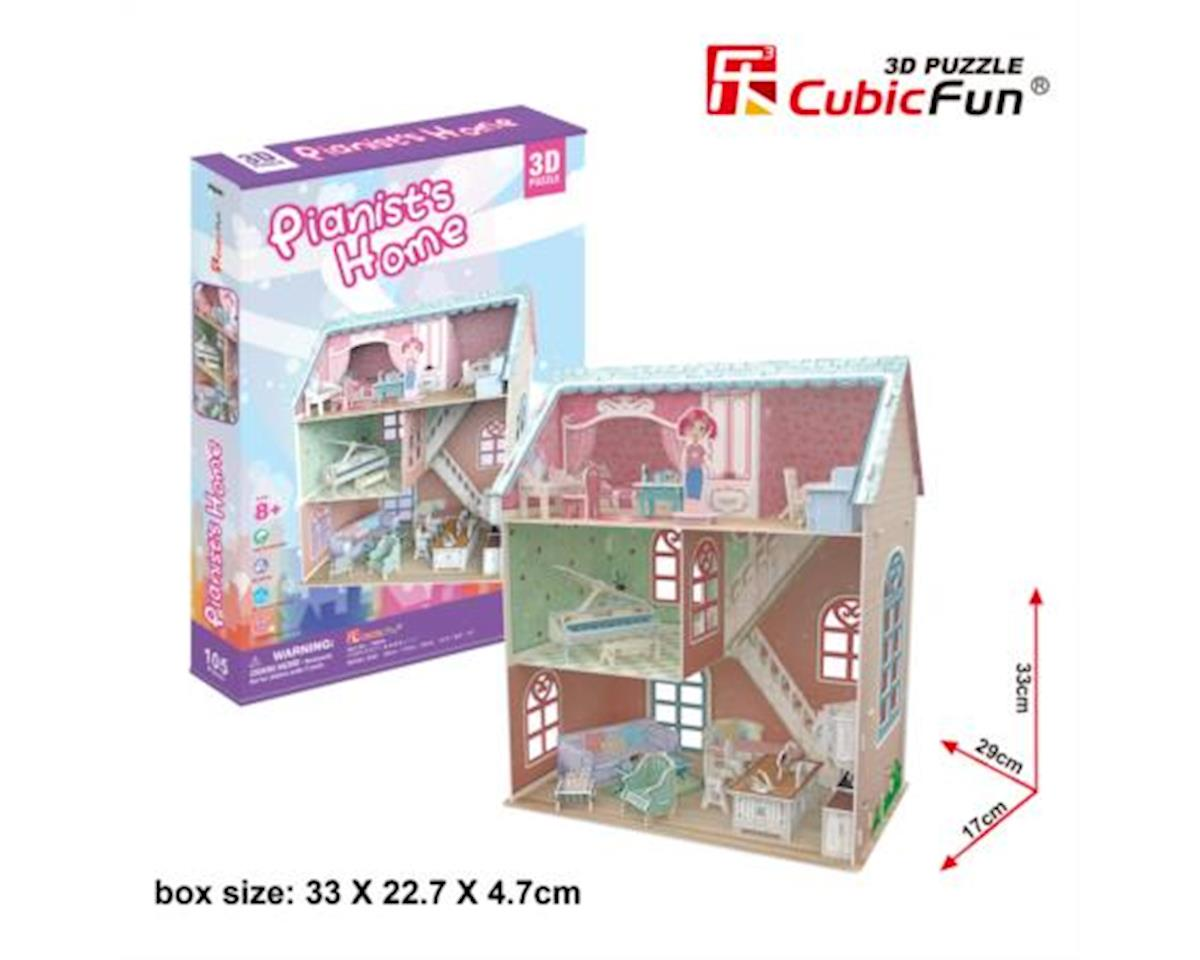 CubicFun P684h Dollhouse - Pianist's Home Puzzle, 105 Pieces