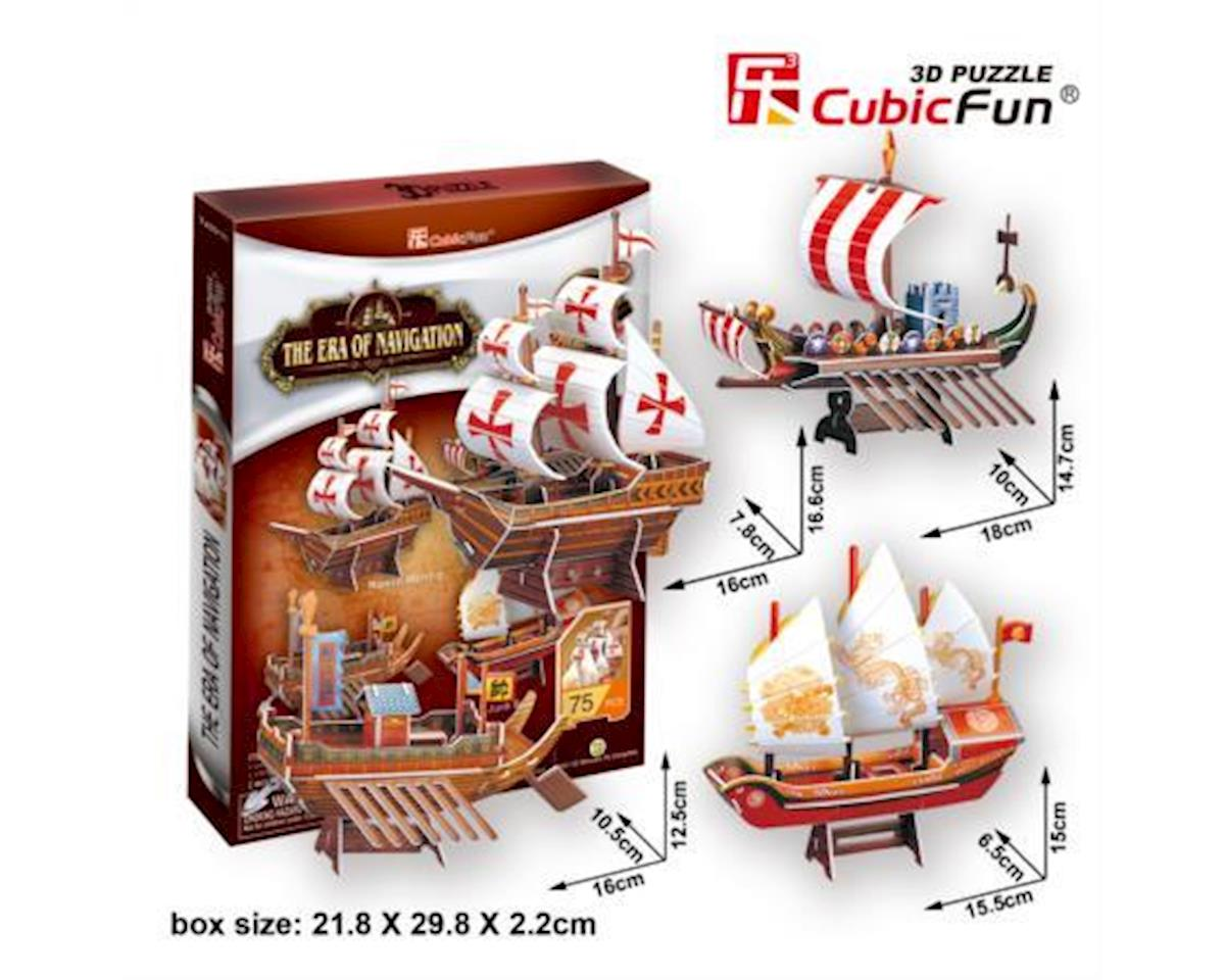 Cubic Fun Era Of Navigation Four Ships 3D Puz