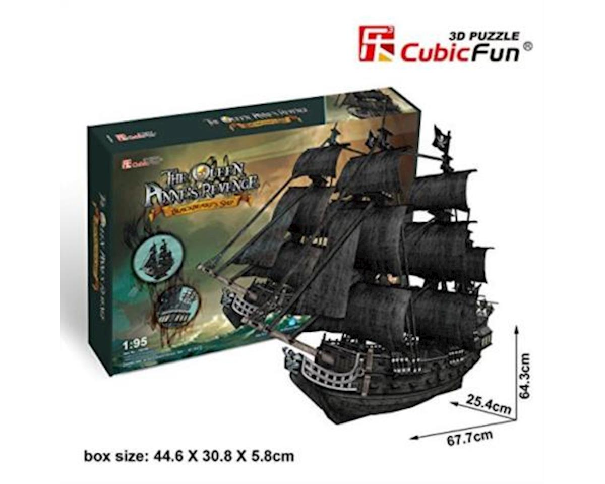 Cubic Fun Queen Anne's Revenge Large 3D Puz