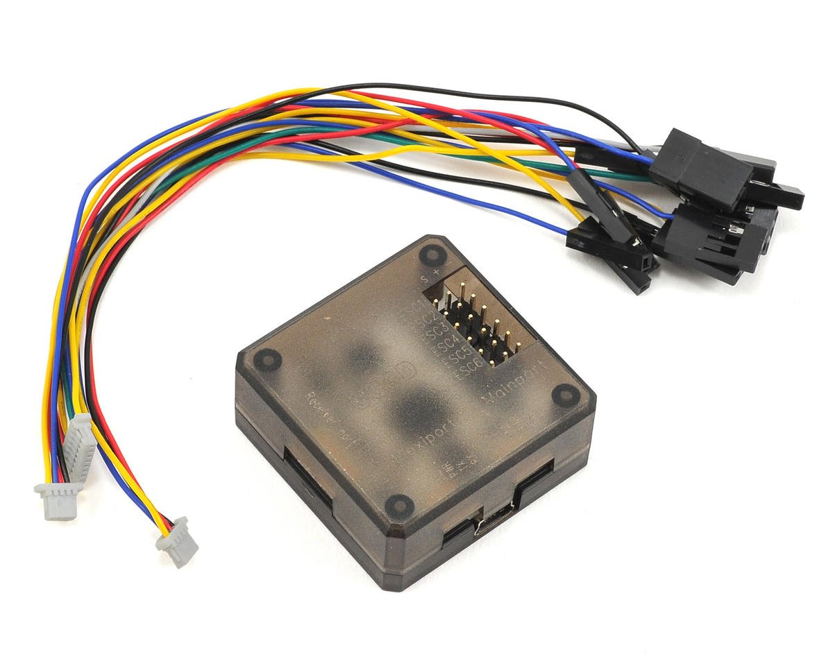 CopterControl CC3D 3D Flight Controller w/Case & Cables (Vertical Pins)