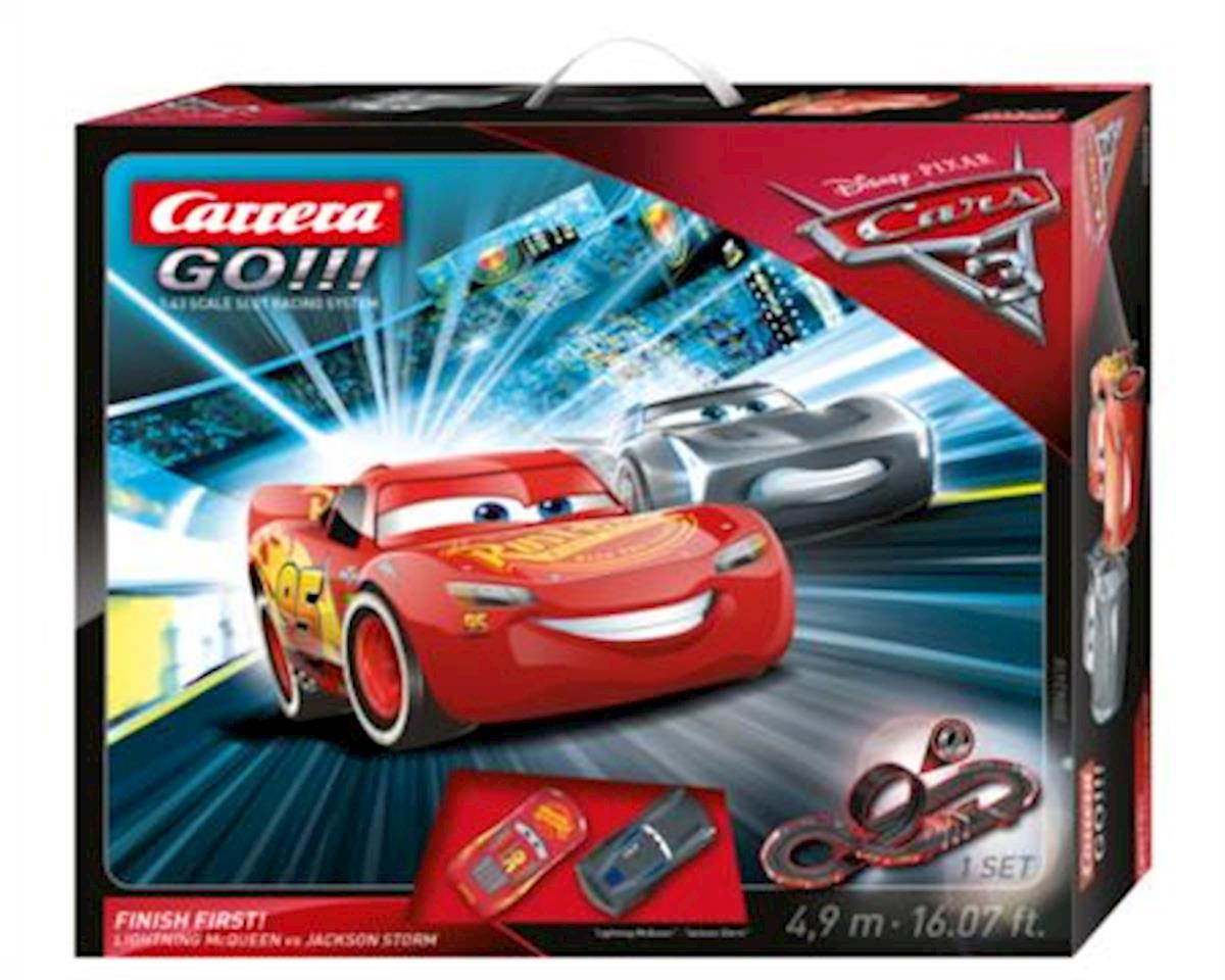 Carrera 1/43 Carerra GO!!! Disney Pixar Cars 3 - Finish First! Slot Car Set