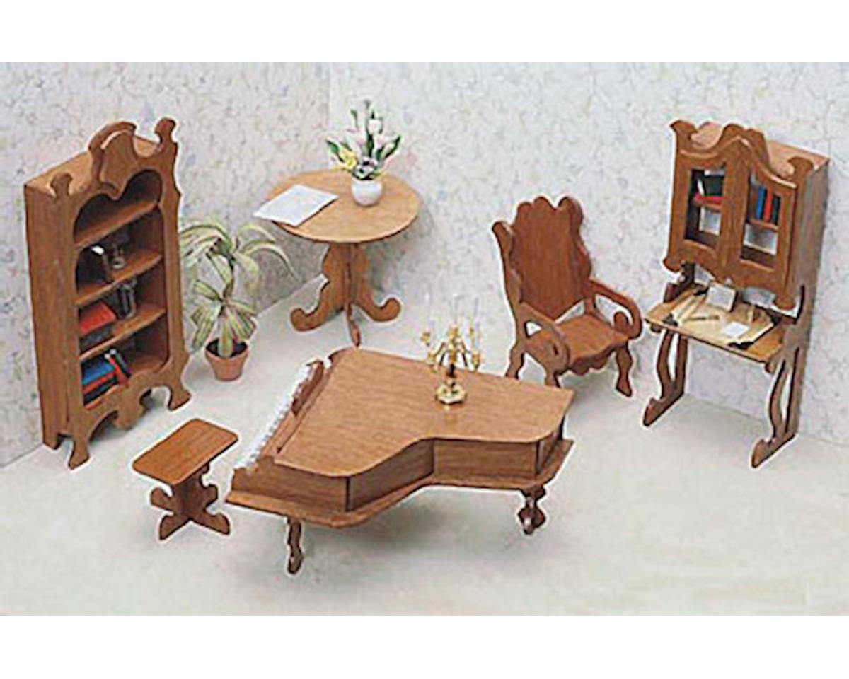 Corona Concepts Dollhouse 7206 Library Furniture