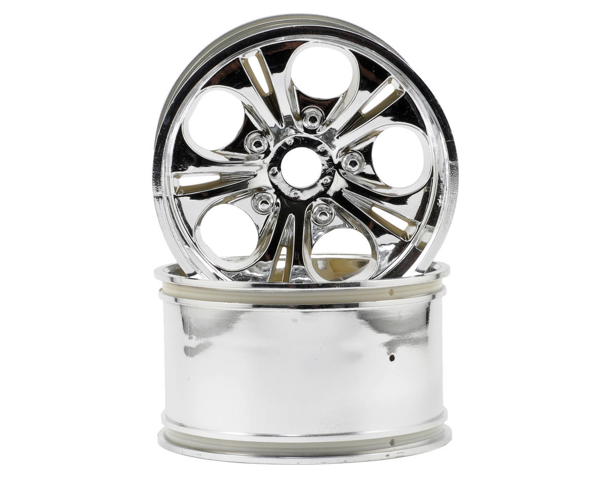"CEN 7.5"" Monster Truck Wheels w/23mm Hub (Chrome) (2)"