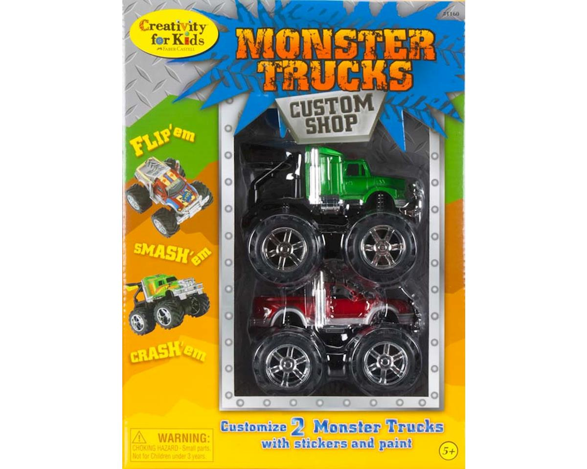 Monster Trucks Custom Shop - 2 Trucks by Creativity For Kids