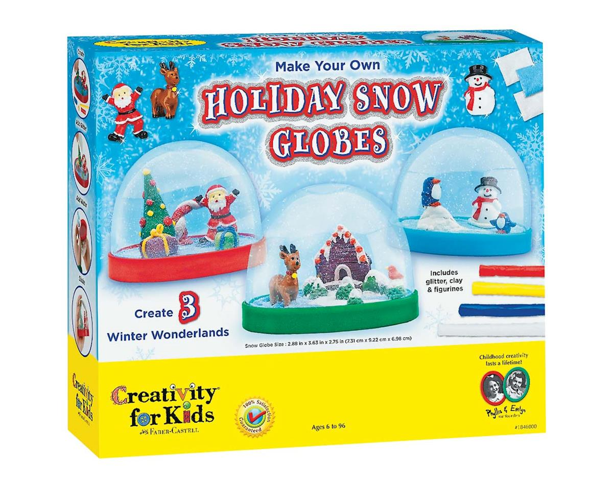 Creativity For Kids 1846000 Make Your Own Holiday Snow Globes